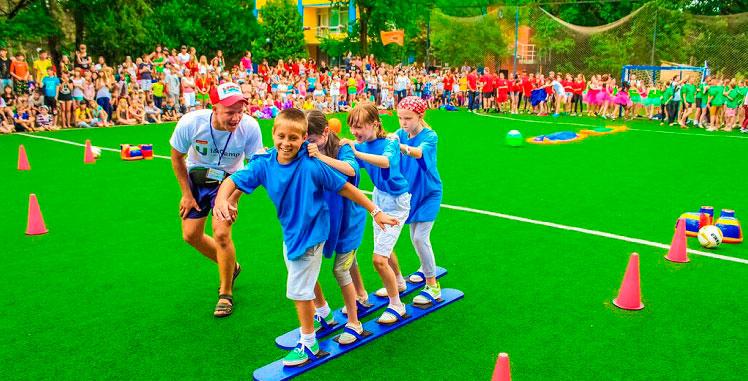Дети в спортивном лагере